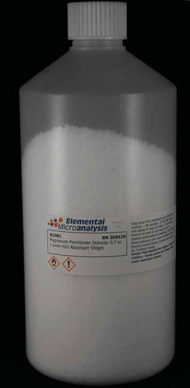 Magnesium Perchlorate Granular 0.7 to 1.2mm H20 Absorbant 500gm