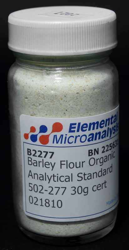 Barley Flour Organic Analytical Standard 502-277 See certificate 021810 30g