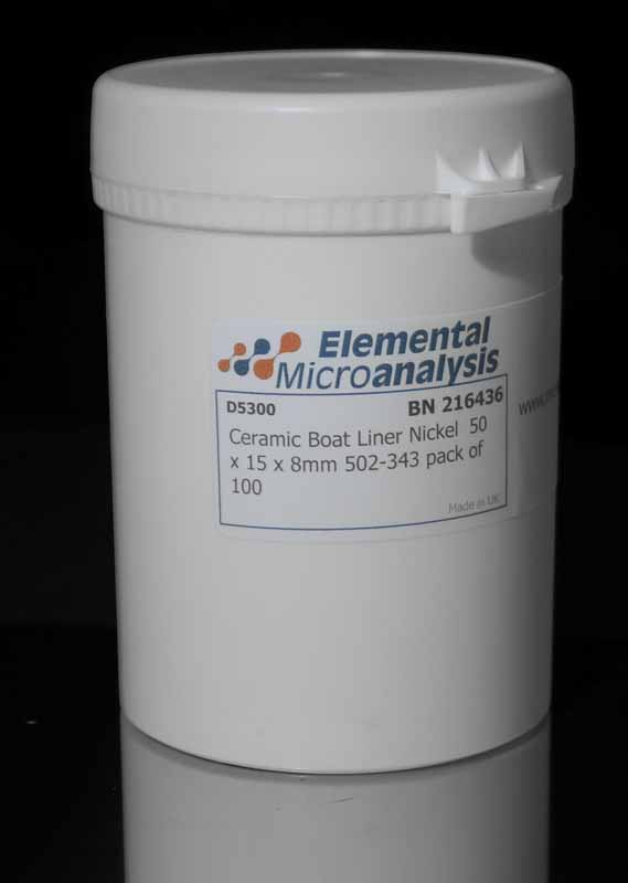 Ceramic Boat Liner Nickel  50 x 15 x 8mm 502-343 pack of 100