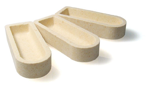 Ceramic Boats Unglazed 529-203 pack of 50