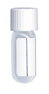 4.5ml Borosilicate Vial Round bottom 46x15.5mm Evacuated labeled Seal + White Cap. Pack of 1000