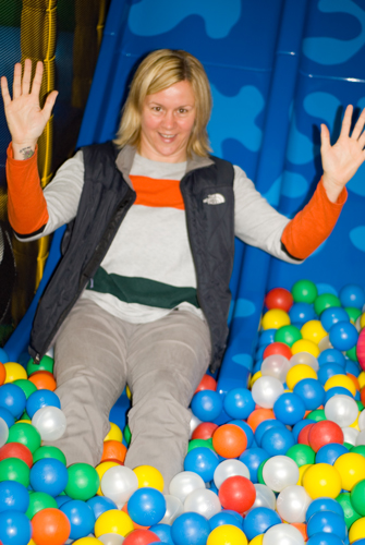Emma in the Soft Play Room at Little Bridge House
