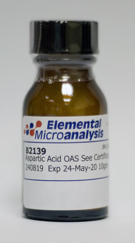 Aspartic Acid OAS See Certificate 307196 expiry 07 June 23 10gm