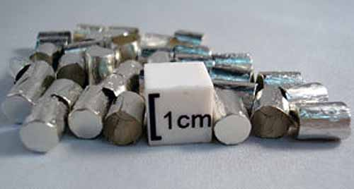 Tin Capsules Pressed Ultra-Light Weight 7.5 x 6mm pack of 100