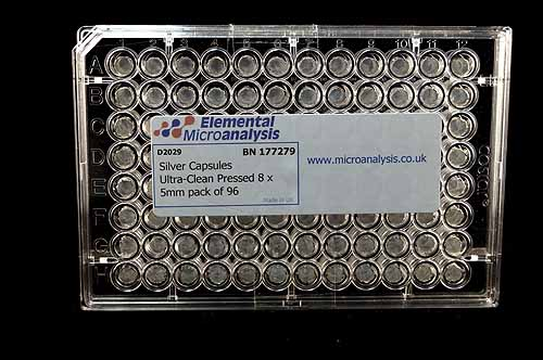 Silver Capsules Ultra-Clean Pressed 8 x 5mm pack of 96