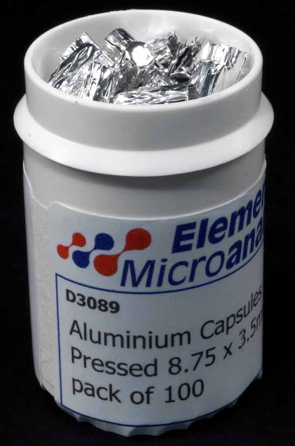 Aluminium Capsules Pressed 8.75 x 3.5mm pack of 100