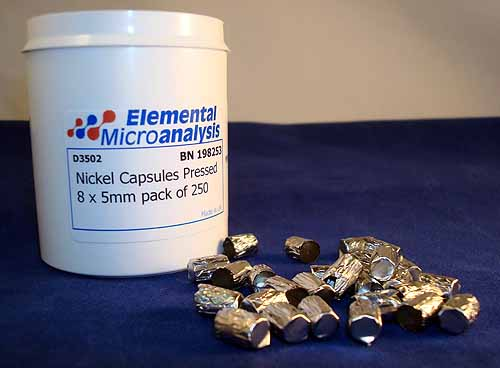 Nickel Capsules Pressed 8 x 5mm pack of 250