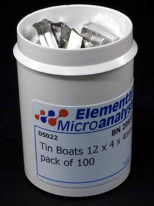 Tin Boats 12 x 4 x 4mm pack of 100