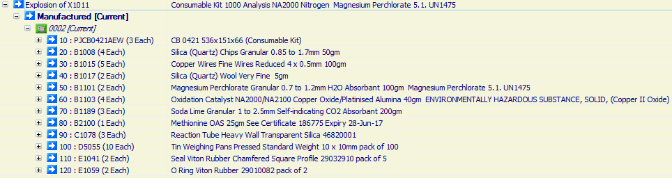 Consumable Kit 1000 Analysis NA2000 Nitrogen