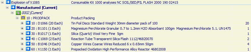 Consumable Kit 1000 analyses NC SOIL/SED/FIL FLASH 2000 190 02415