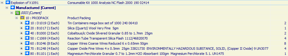 Consumable Kit 1000 Analysis NC Flash 2000 190 02414