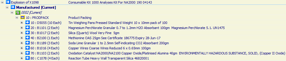 Consumable Kit 1000 Analyses Kit For NA2000 190 04143