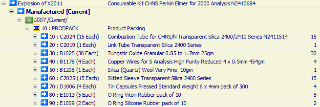 Consumable Kit CHNS Perkin Elmer for 2000 Analysis N2410684