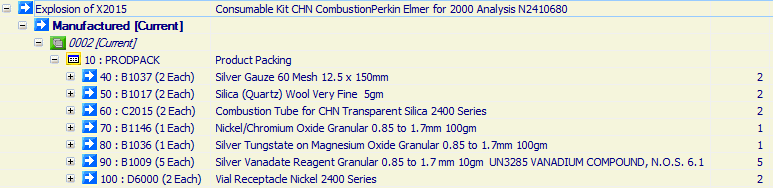 Consumable Kit CHN Combustion Perkin Elmer for 2000 Analysis N2410680