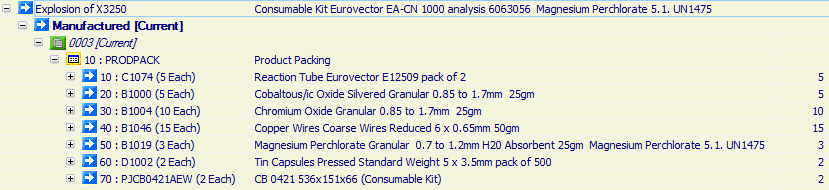 Consumable Kit Eurovector EA-CN 1000 analysis 6063056