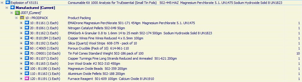 Consumable Kit 1000 Analysis for TruEssential (Small Tin Foils)   502-445-HAZ