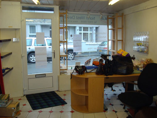 Age Concern front office before work began